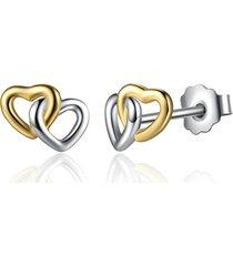 classic doppio cuore orecchini in argento sterling 925 dolce cuore orecchini anallergici per le donne