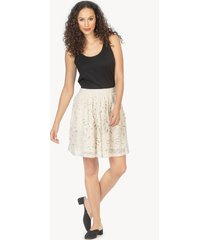 lilla p floral mesh skirt