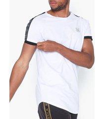 siksilk s/s raglan tech tee t-shirts & linnen white/black