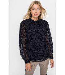 blouse met flockprint