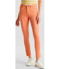 pantalón skinny medium rise naranja esprit