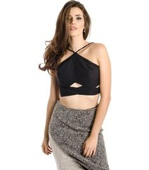 top cropped alça lucidez
