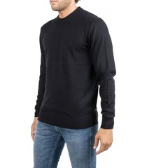 suéter wool cotton embroidery negro calvin klein