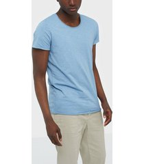 jack & jones jjebas tee ss u-neck noos t-shirts & linnen blue