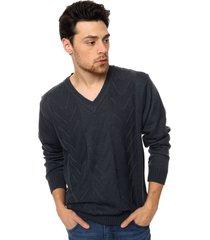 sweater azul moni tricot ultramar