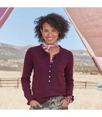 sundance catalog women's edwina henley sweater - petites in pacific petite 2xs