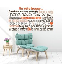 vinilo tingo tango en este hogar - mediano 130 x 65 cm