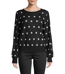 bailey 44 women's polka dot wool-blend sweater - twilight pink - size l