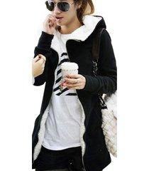 mujeres suéteres chaqueta abrigo hoodie cremallera cómodo coat parka top s-4xl