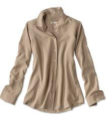 long-sleeved everyday silk shirt