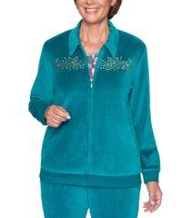 alfred dunner bright idea embellished velour jacket