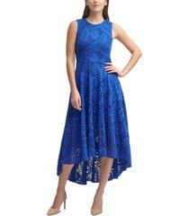 calvin klein lace high-low midi dress