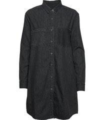 over d denim shirt dress kort klänning svart superdry