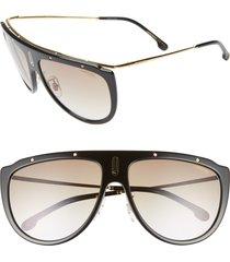 carrera eyewear 60mm aviator sunglasses in black gold at nordstrom