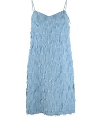 atelier strappy fringed dress