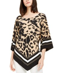 alfani petite scarf-hem tunic, created for macy's
