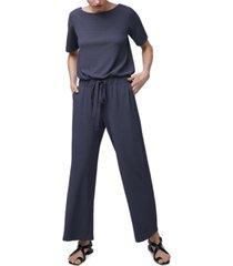 b new york blouson wide-leg jumpsuit