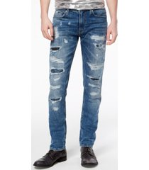 guess men's slim tapered fit stretch jeans