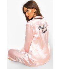 bruidssquad satijnen pyjama's, roségoud
