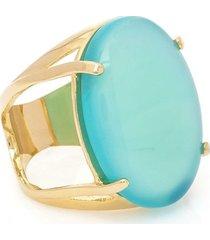 anel banhado a ouro oval bonamita