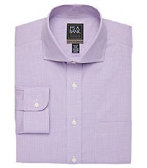travel tech collection slim fit cutaway collar micro check shirt, by jos. a. bank