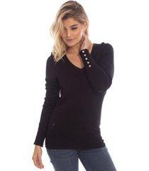 suéter aleatory gola v feminino