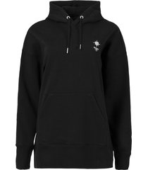 logo hoodie with large graphic, black