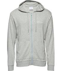 full zip sweatshirt hoodie trui grijs calvin klein