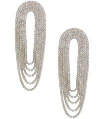 ettika crystal drape fringe women's earrings