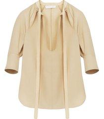 plunging neckline blouse