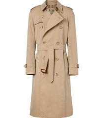 burberry chelsea heritage long trench coat - neutrals