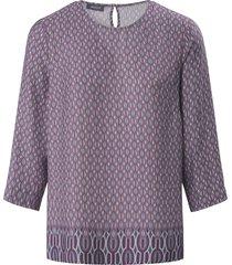 blouse 3/4-mouwen en minimal-dessin van basler grijs