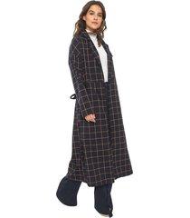 casaco sobretudo colcci loose azul-marinho - azul marinho - feminino - algodã£o - dafiti
