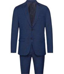 wool cotton tropical kostym blå calvin klein