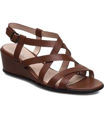 shape 35 wedge sandal shoes summer shoes flat sandals brun ecco