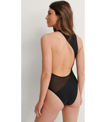 na-kd swimwear recycled baddräkt - black