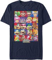 nintendo men's super mario deluxe character stack short sleeve t-shirt