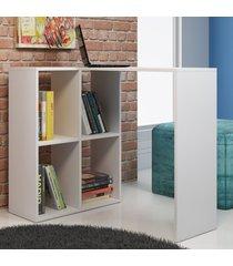 mesa escrivaninha bc 42-06 branco - brv móveis