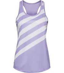 printed accelerate tank v2 t-shirts & tops sleeveless blå new balance