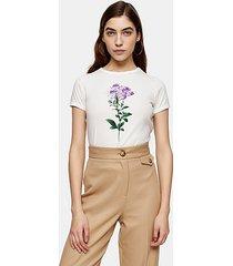 white hydrangea t-shirt - white