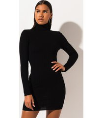 akira fall yall turtleneck mini dress