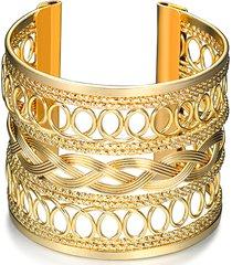 braccialetto elegante di braccialetto delle donne braccialetto a spirale largo del tessuto
