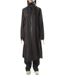 bottega veneta oversized nylon parka coat