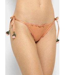 calcinha de biquíni de amarrar salinas lacinho frufru feminina