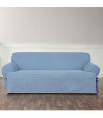 sure fit authentic denim one piece sofa slipcover