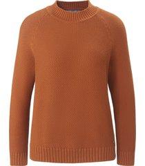 trui van 100% katoen met ronde hals van day.like bruin