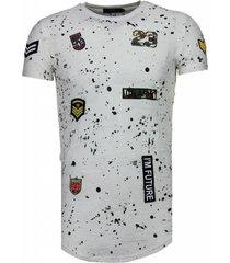 military patches paint splash t-shirt