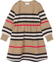 burberry archive beige wool-cashmere blend dress