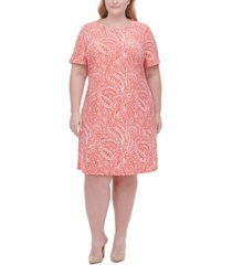 tommy hilfiger plus size printed dress
