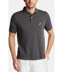 nautica men's big & tall classic-fit performance interlock solid polo shirt